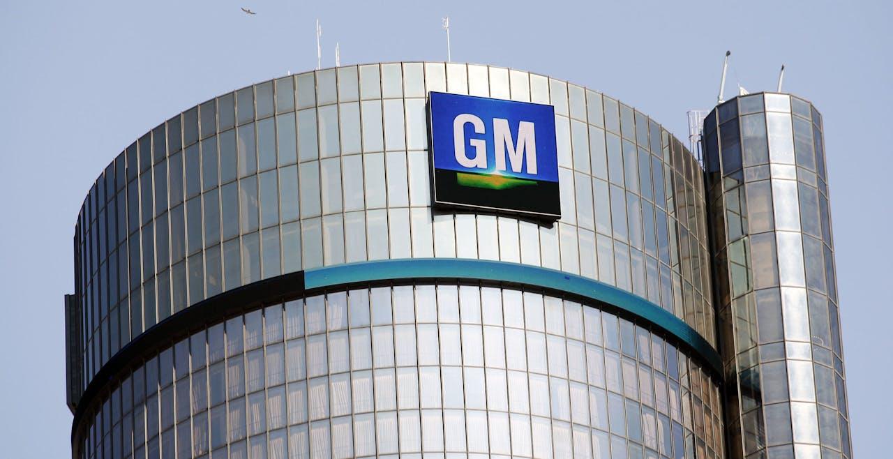 De General Motors-fabriek in Detroit, Michigan.