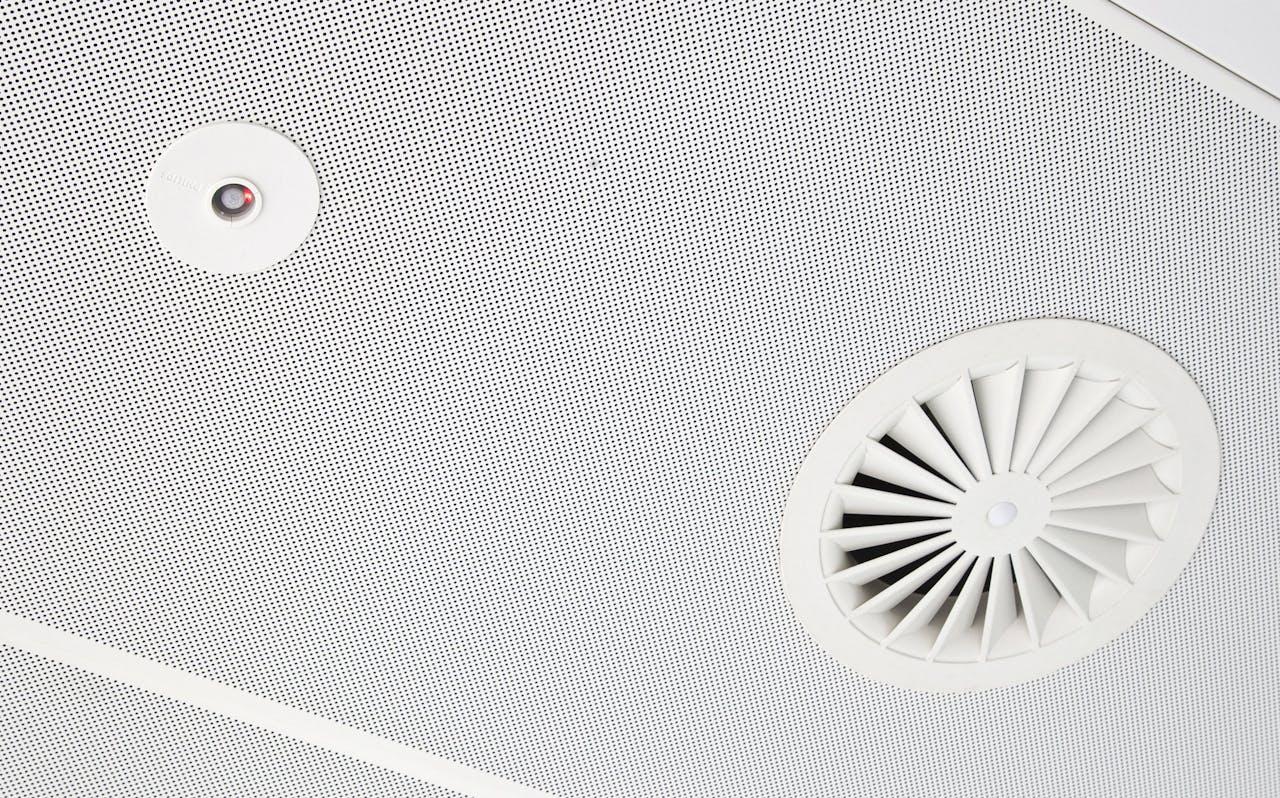 Ventilatie in kantoorgebouw