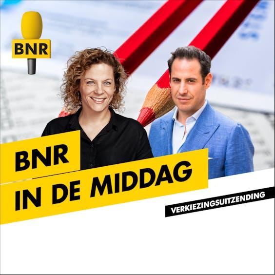 Verkiezingsavond bij BNR. Met Roos Abelman en Donatello Piras