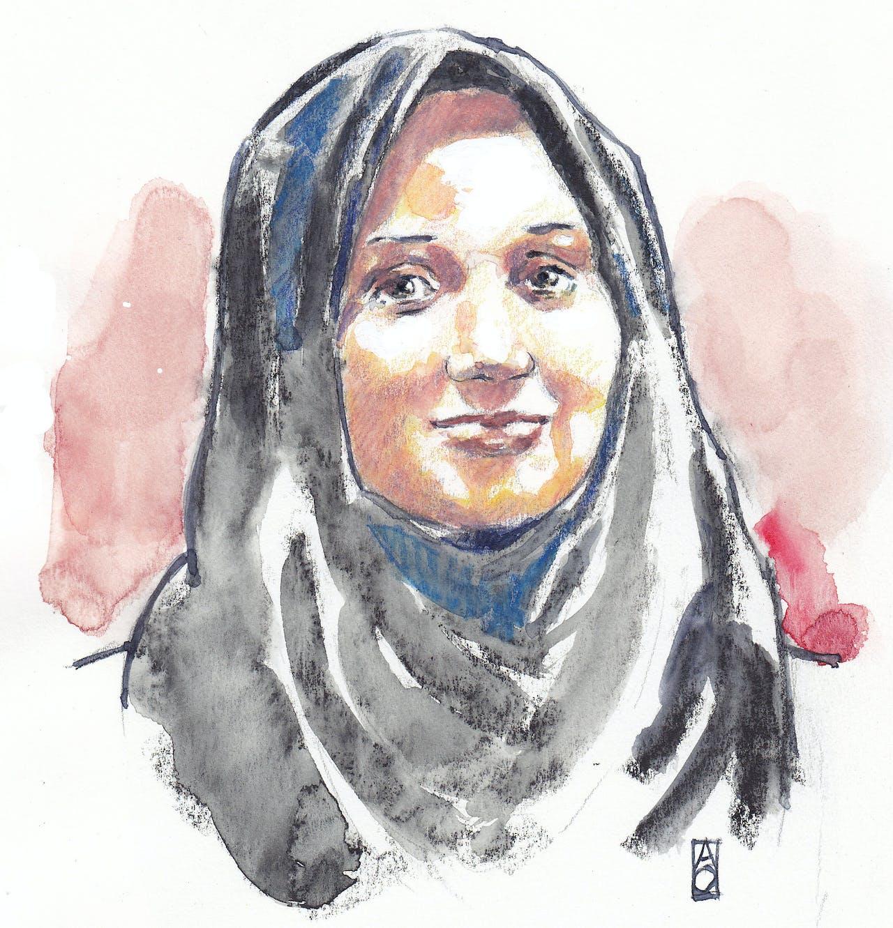 Aquarel van jihadverdachte Laura H. (21) uit Zoetermeer.