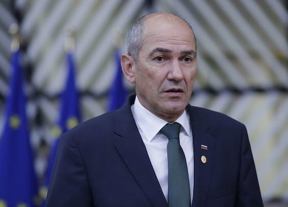 De Sloveense premier Janez Janša