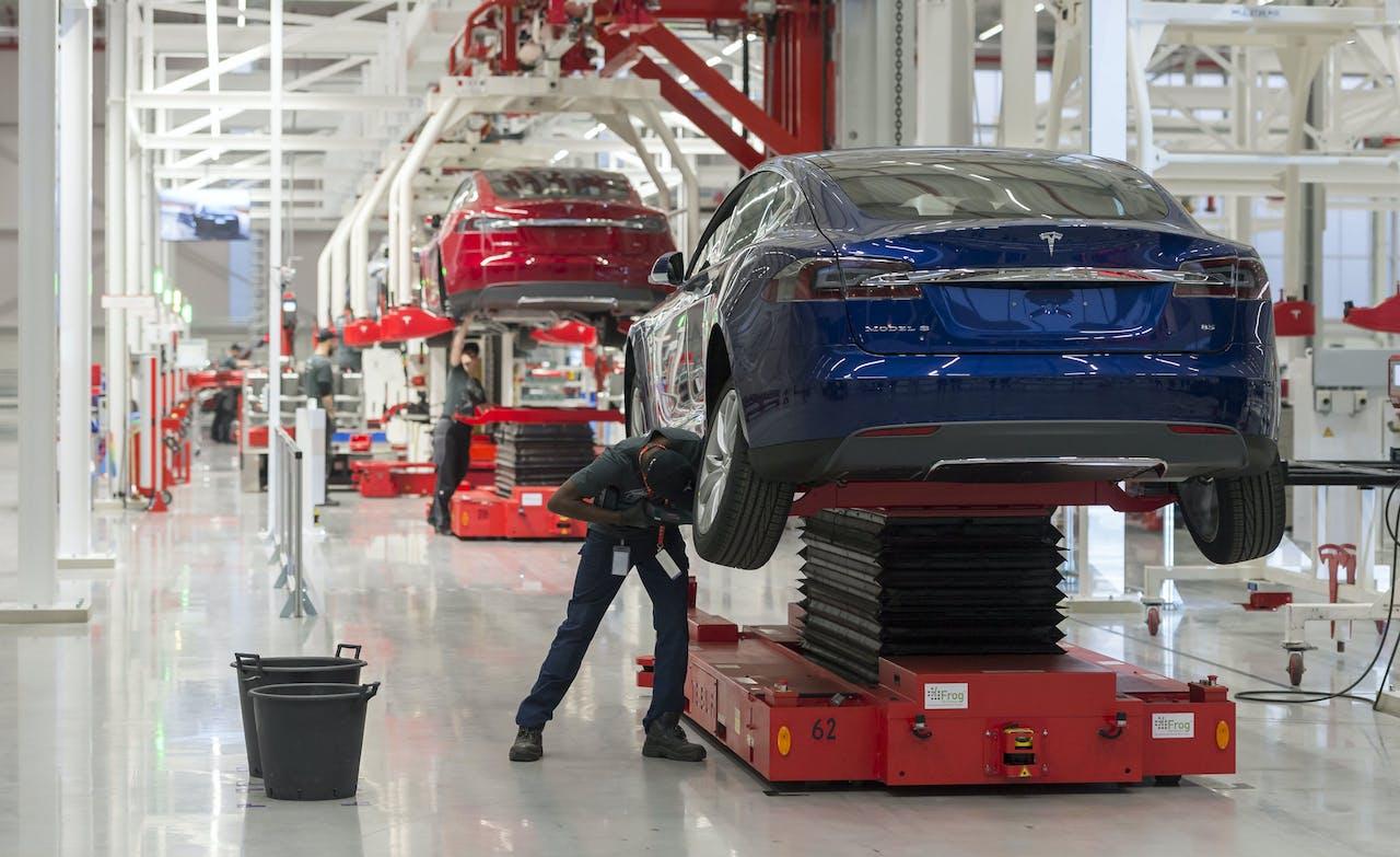 De Tesla-fabriek in Tilburg. ANP LEX VAN LIESHOUT
