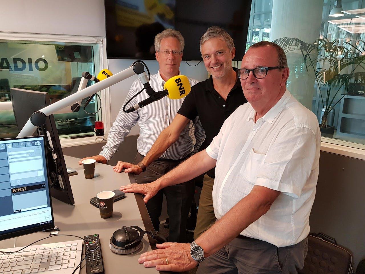 V.l.n.r.: Bob Gieskens, Paul Laseur en Joop van Leeuwen