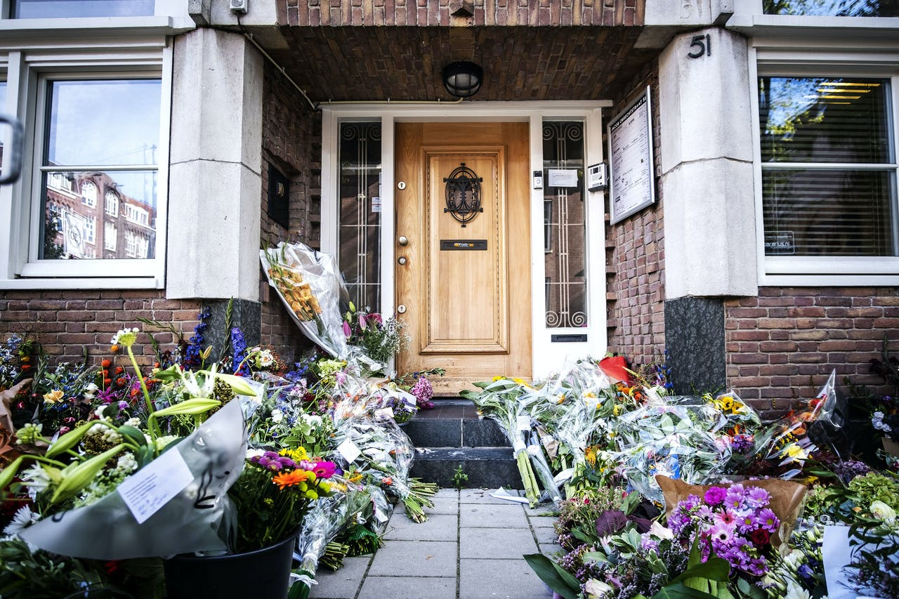 Het kantoor van de doodgeschoten advocaat Derk Wiersum.
