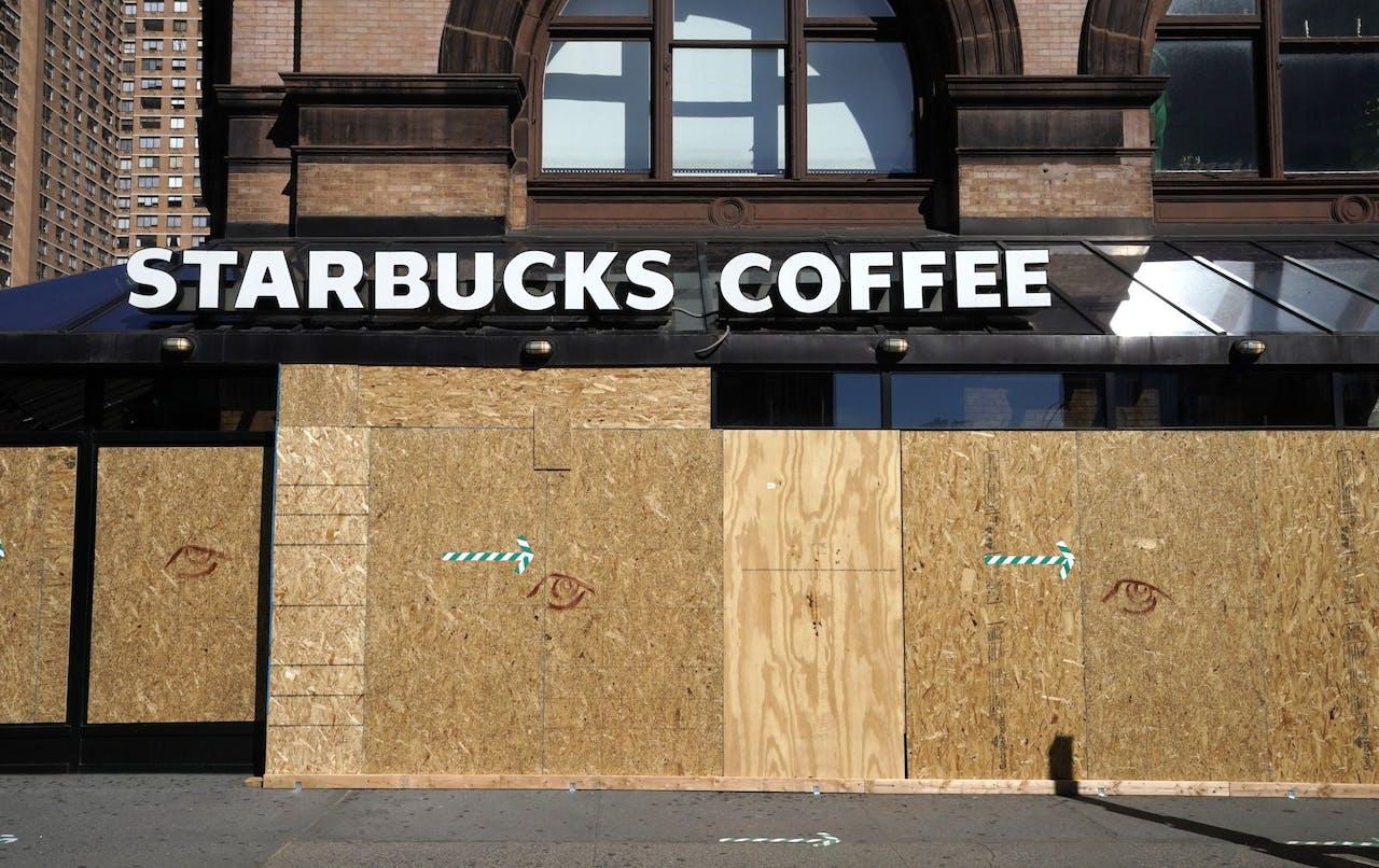 Gesloten Starbucksfiliaal in de VS