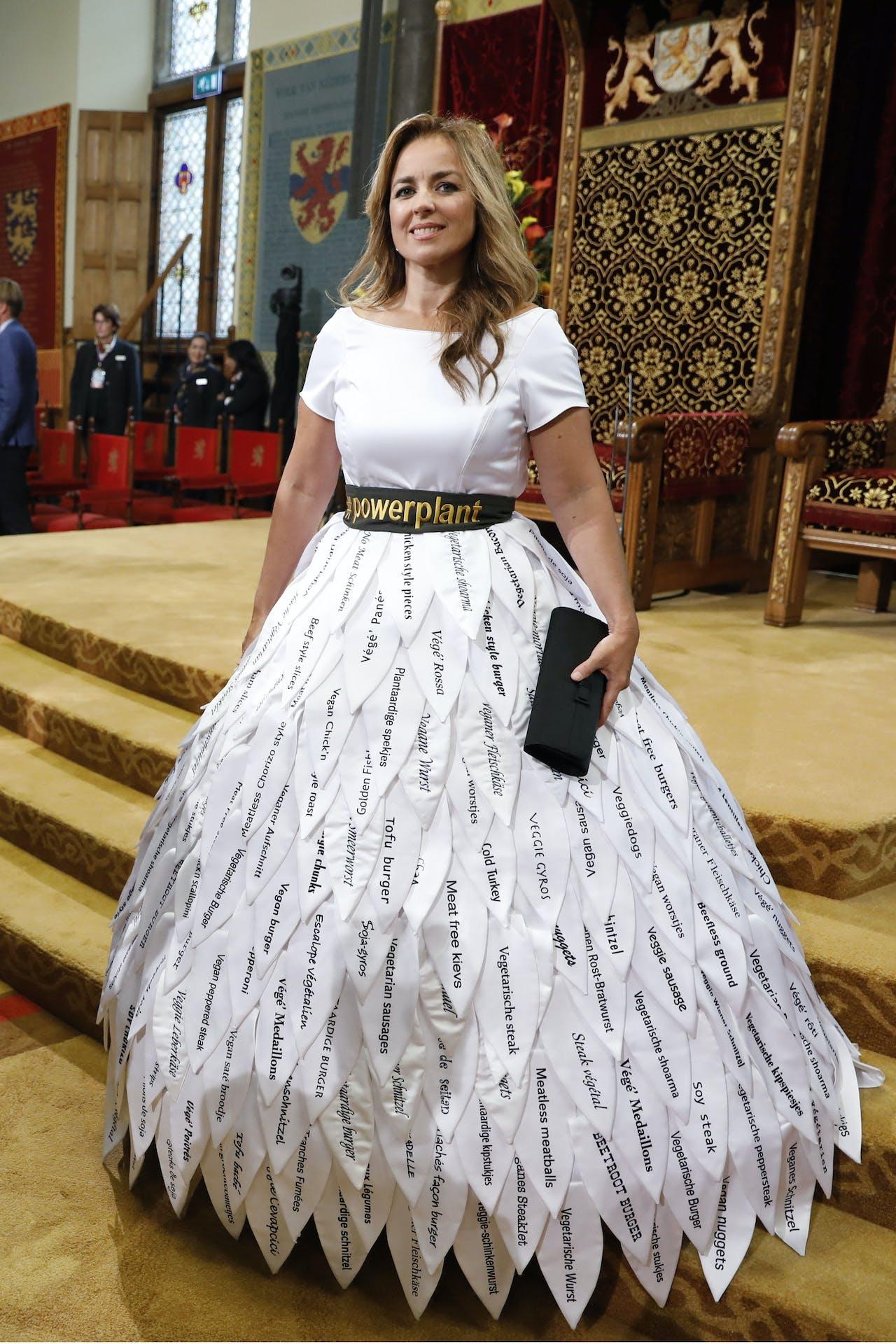 2018-09-18 13:06:24 DEN HAAG - Marianne Thieme in de Ridderzaal op Prinsjesdag. ANP REMKO DE WAAL