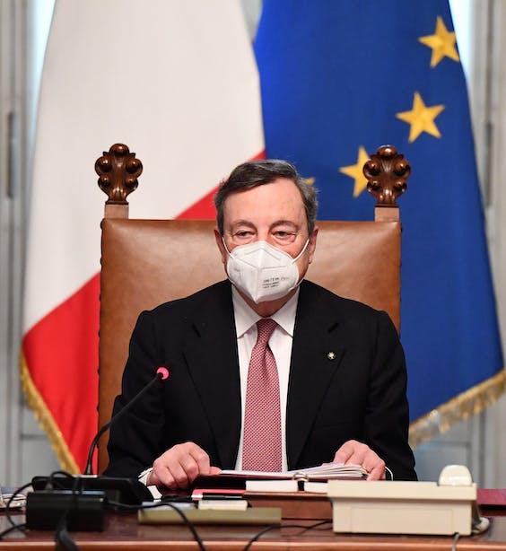 Mario Draghi, de nieuwe premier van Italië