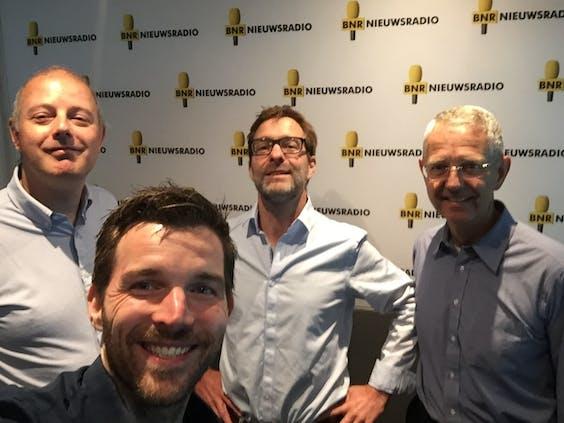 V.l.n.r. Mark Beekhuis, John-Boy Vossen, Friso Dubbelboer en Jeroen Franken