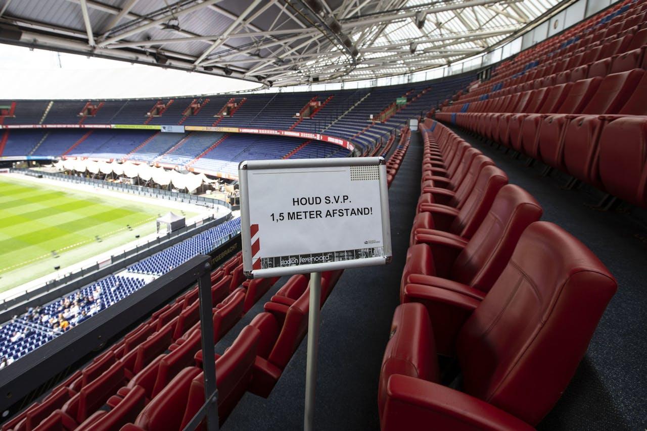 De maatregelen in de Kuip van Feyenoord