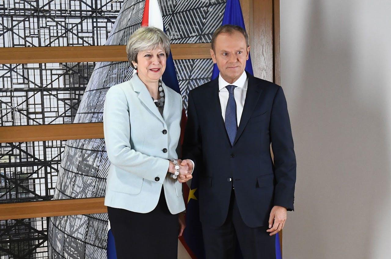 Theresa May en Donald Tusk