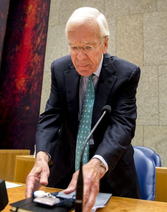 Tjeenk Willink arriveert in de Tweede Kamer