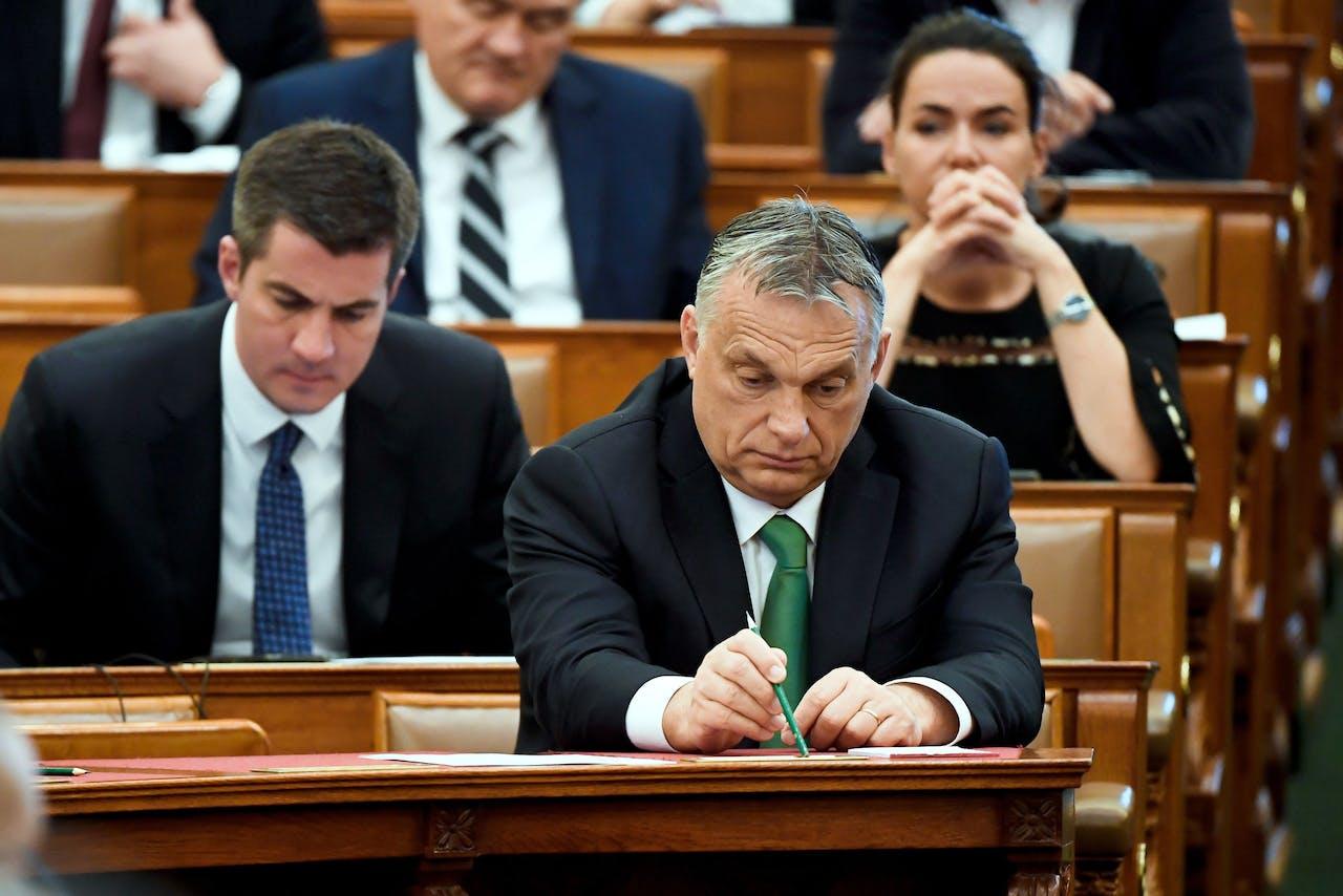 De Hongaarse premier Viktor Orbán
