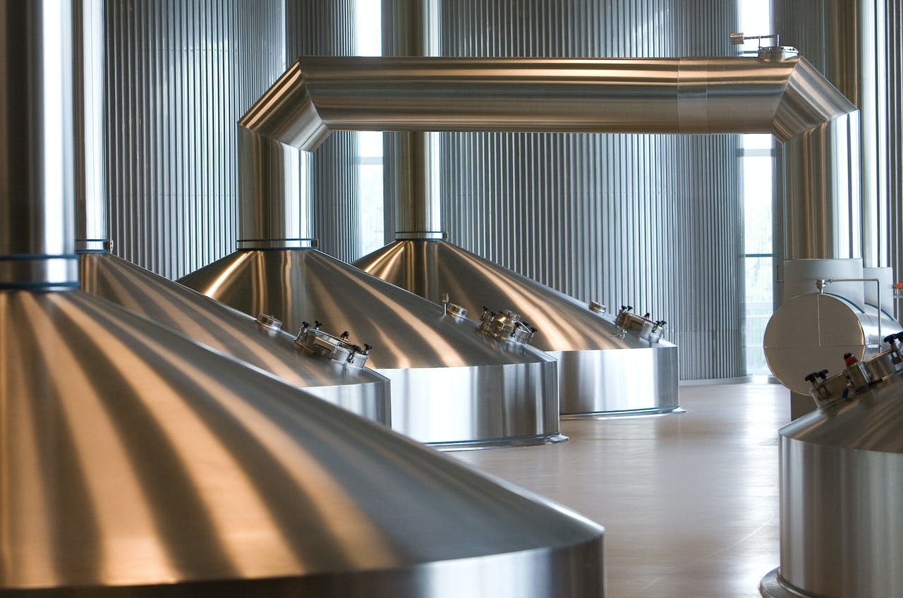 Enschede - De brouwerij van Koninklijke Grolsch. ANP PHOTO CAPITAL PHOTOS LEX VAN LIESHOUT