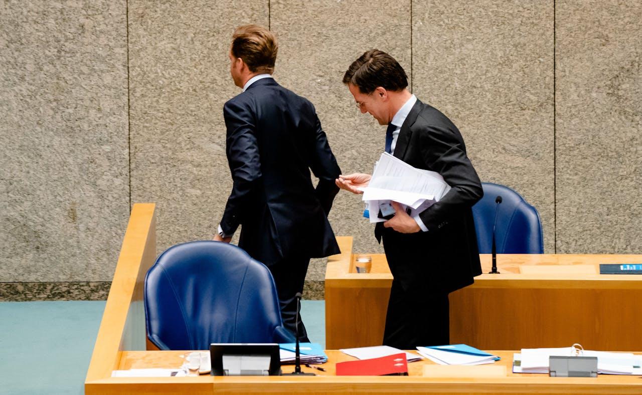 Minister Hugo de Jonge en Premier Mark Rutte