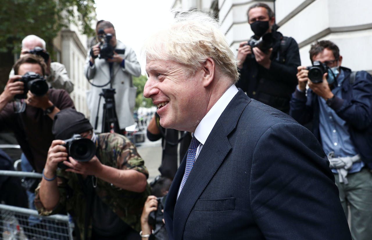 British Prime Minister Boris Johnson leaves a Cabinet meeting at Downing Street in London, Britain, September 8, 2020. REUTERS/Simon Dawson