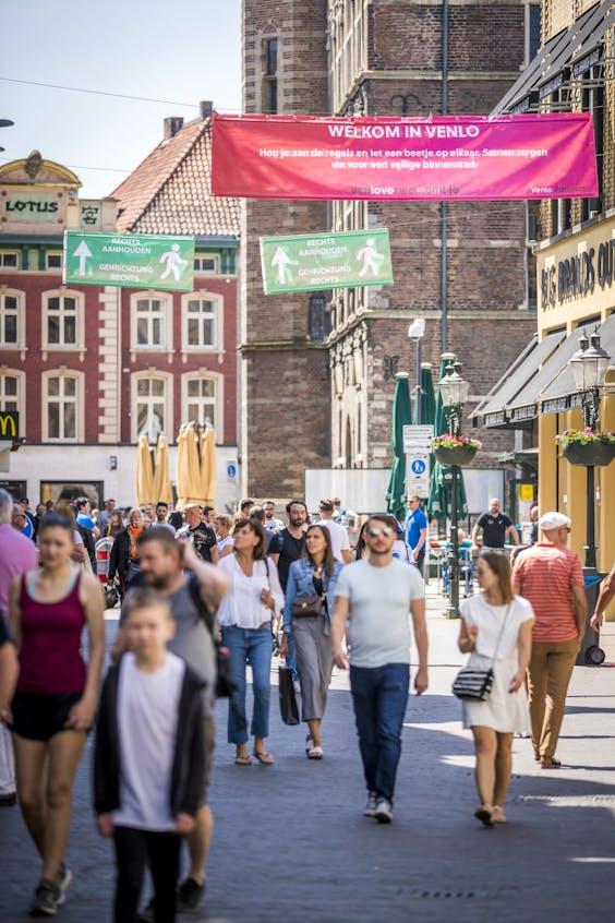 Winkelstraat in Venlo