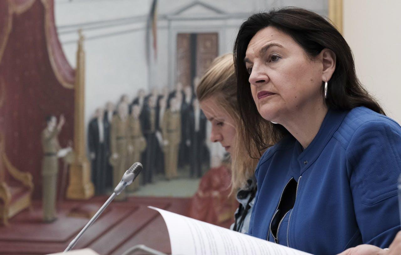 De Belgische minister van Energie Marie-Christine Marghem.