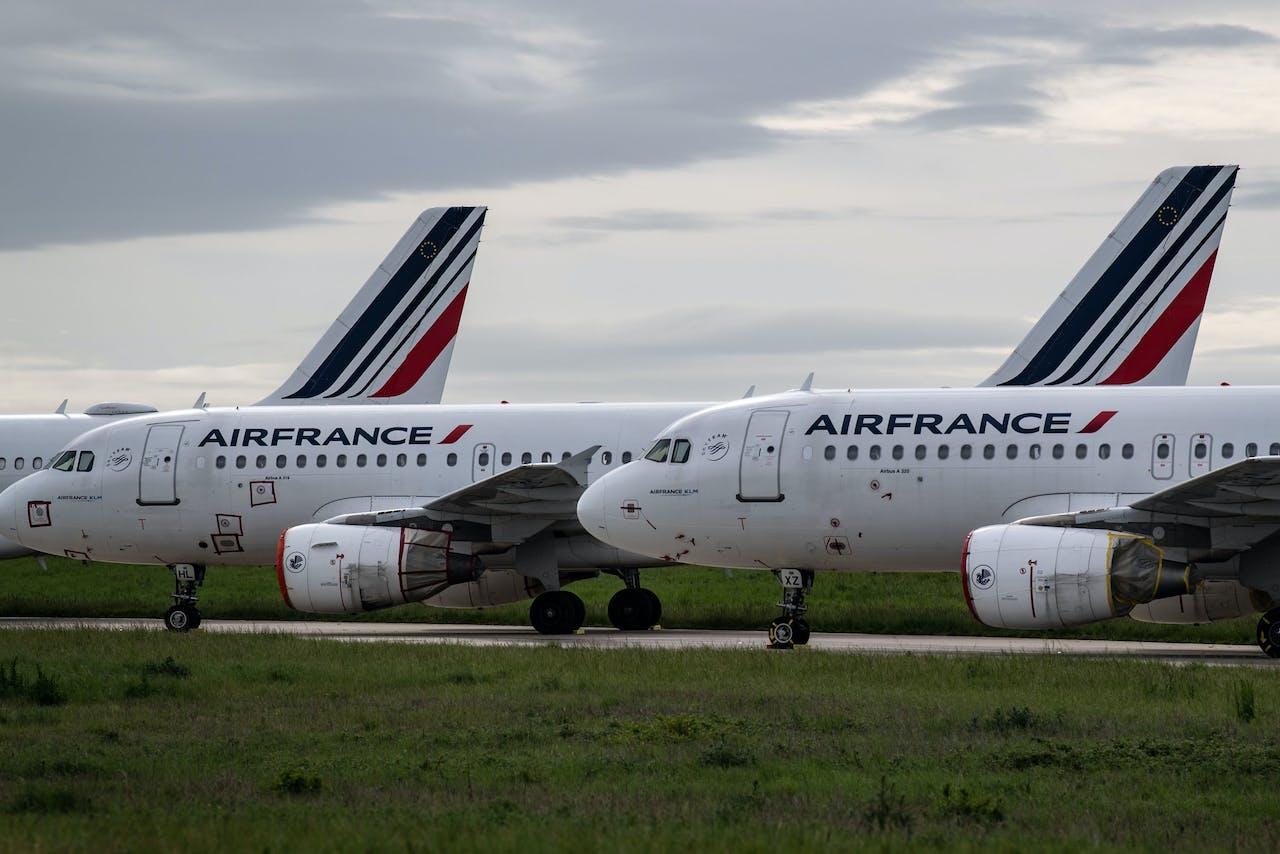 Toestellen van Air France op luchthaven Charles de Gaulle