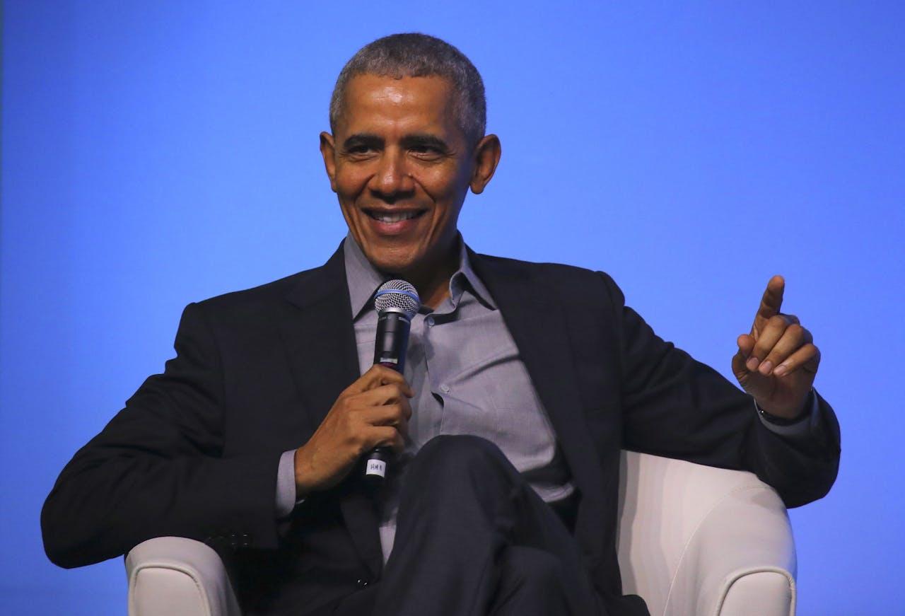 Oud-president Obama blijkt een populair persoon om te gebruiken in campagnespotjes.