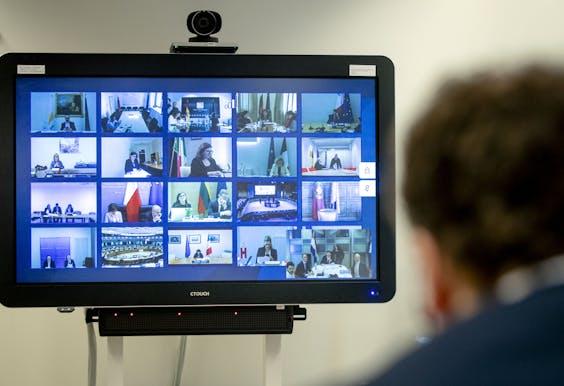 Video-overleg van EU-ministers