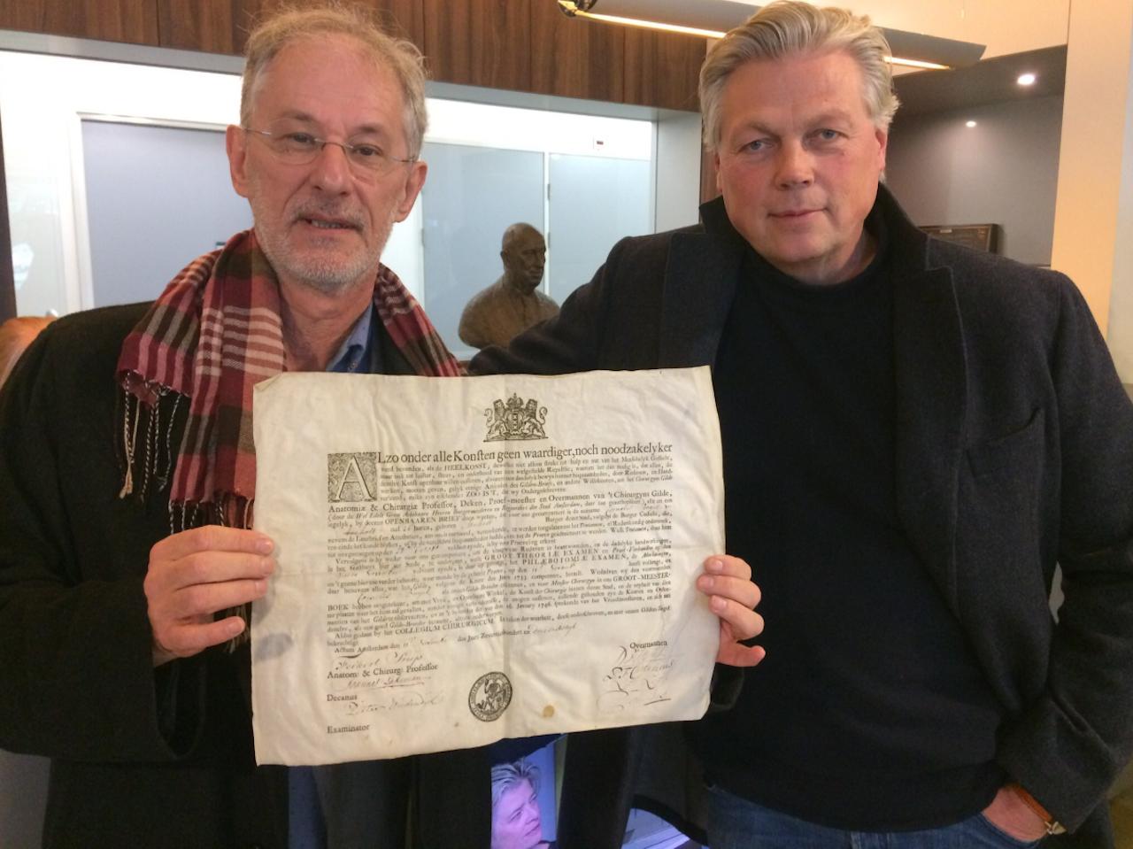 Eddy Houwaart en presentator Roelof Hemmen