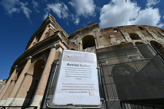 Het Colosseum in Rome is gesloten