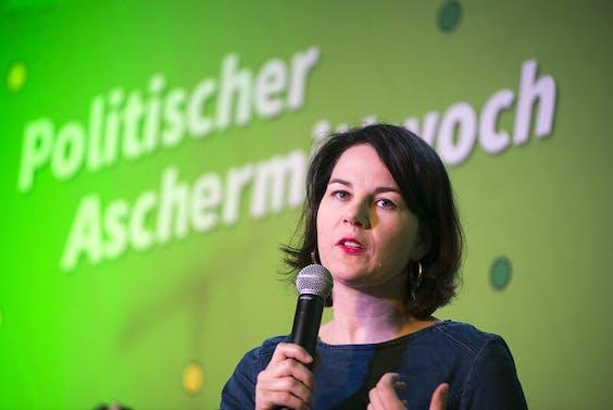 Annalena Baerbock, leider van De Groenen.