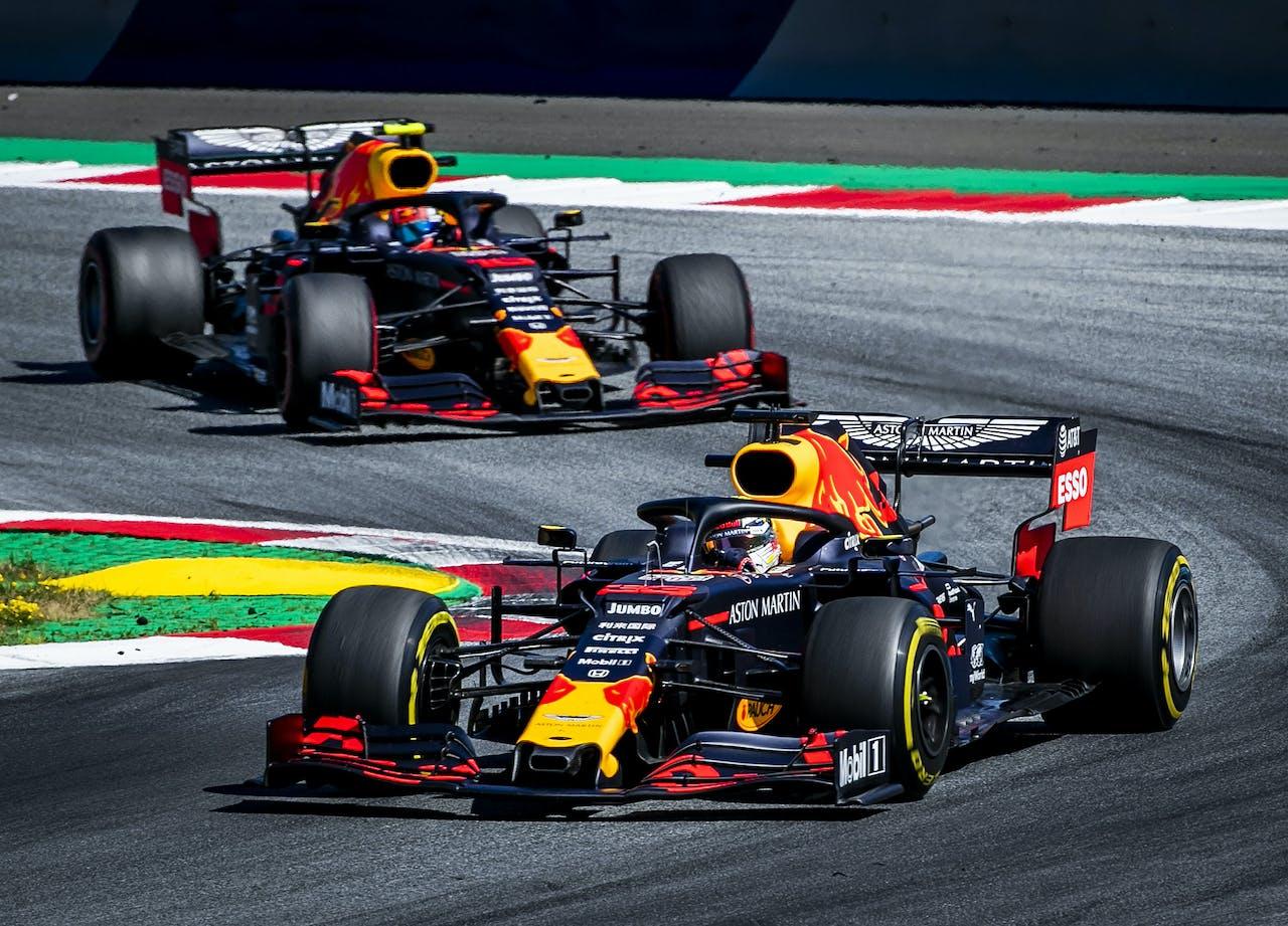 Max Verstappen in actie tijdens de GP van Oostenrijk van vorig jaar