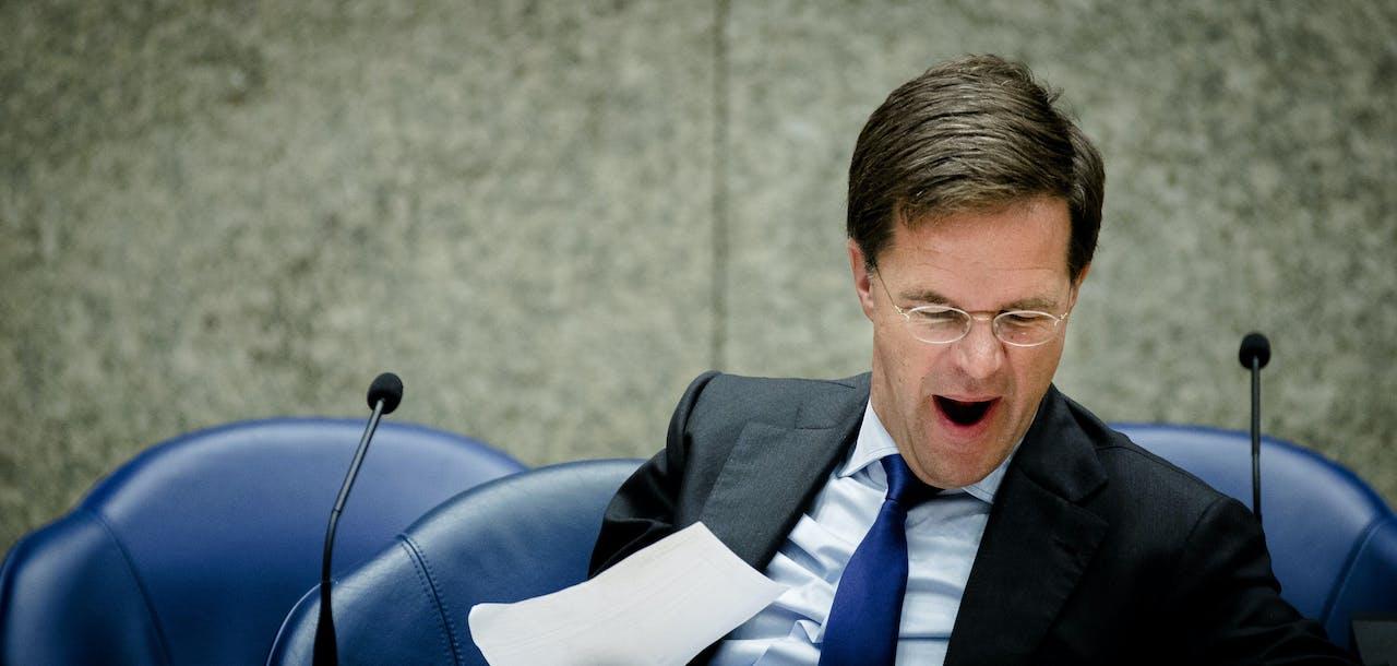 Premier Rutte is ook wel eens moe