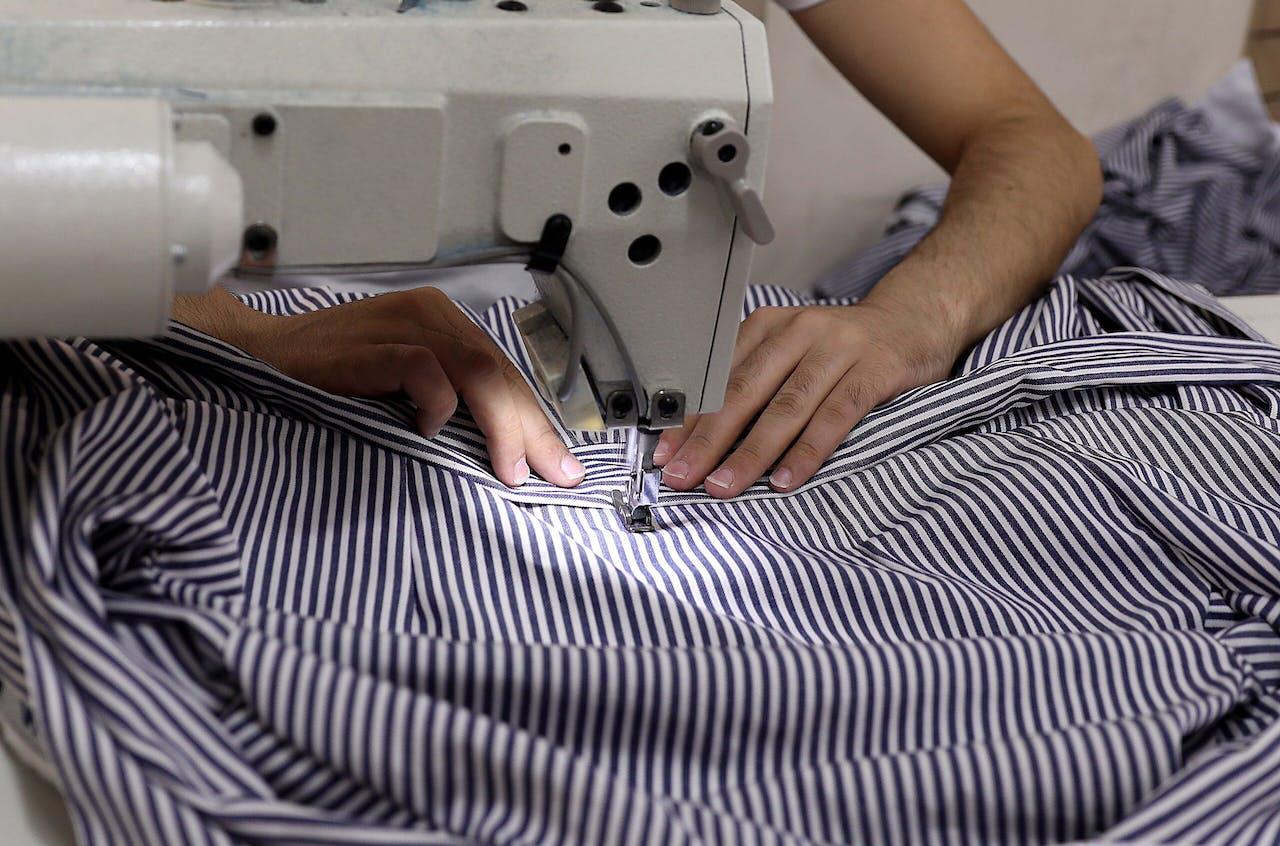 Een textielfabriek in Azië