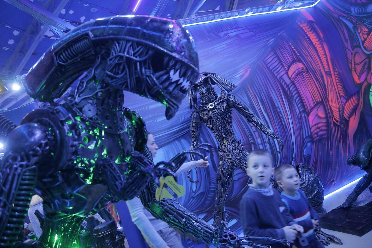 Een alien uit de film 'Alien vs. Predator'
