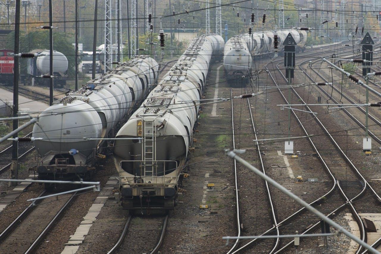 Duitse goederentreinen.