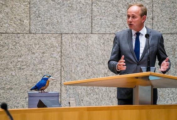 Kees van der Staaij (SGP) tijdens de eerste dag van de Algemene Politieke Beschouwingen,