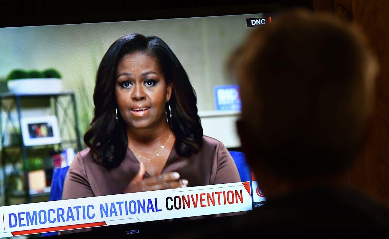 Michelle Obama op de Democratische Nationale Conventie