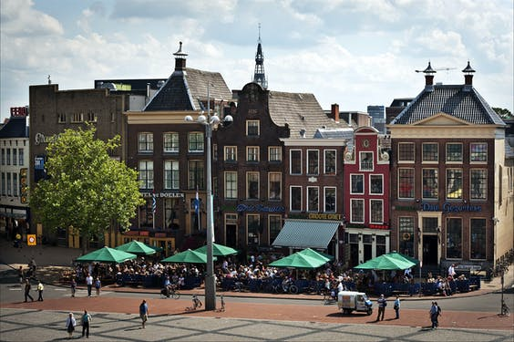 De Grote Markt in Groningen.