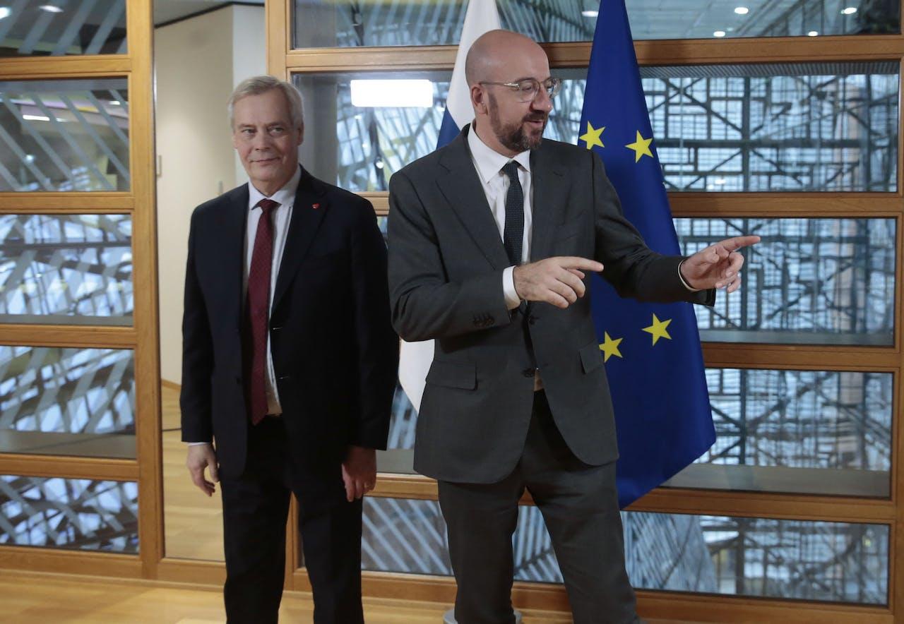 Aanstaand voorzitter van de Europese Raad Charles Michel (rechts).