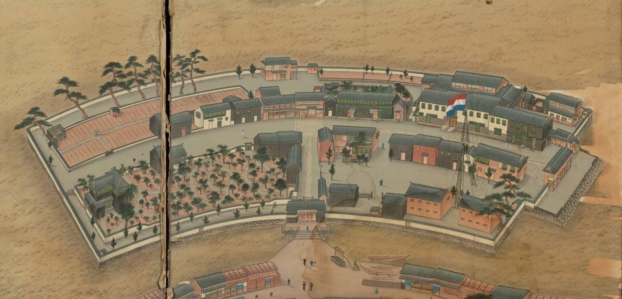 Deshima, de Nederlandse handelspost (detail)