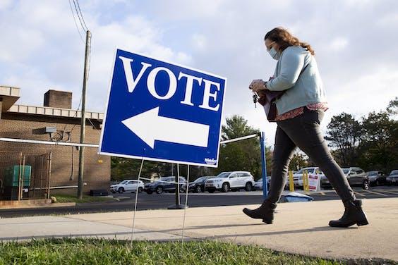 Een stemlokaal in Maryland
