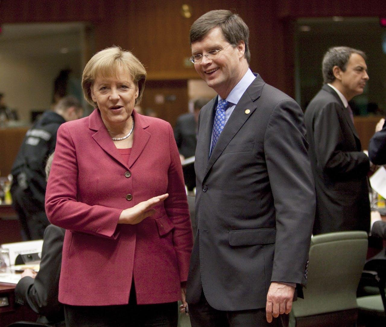 Angela Merkel en Jan Peter Balkenende