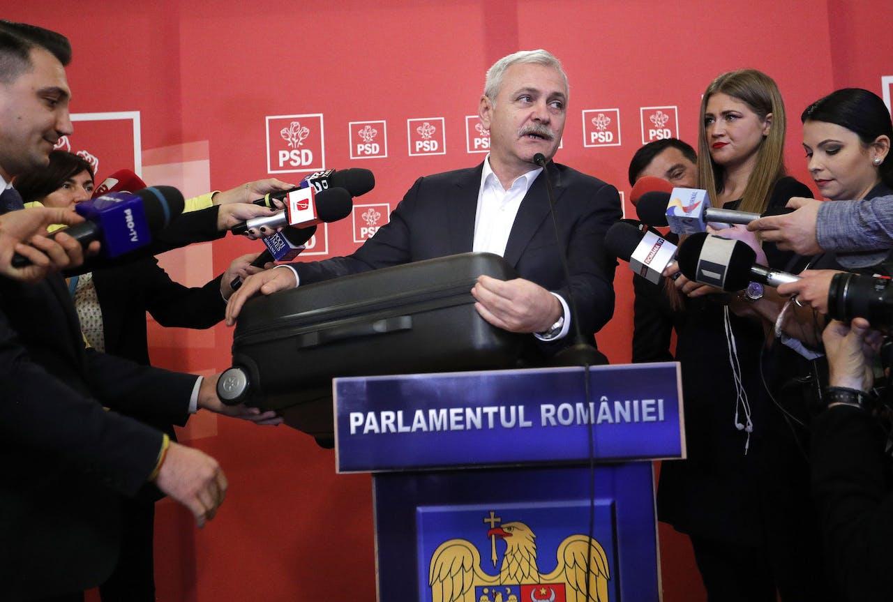 Liviu Dragnea, leider van de sociaaldemocratische regeringspartij.