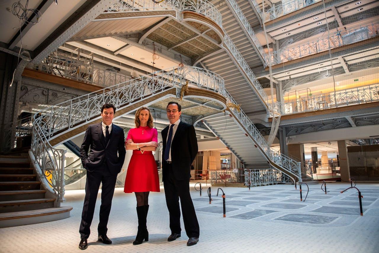 (VLNR) Jean-Jacques Guiony (LVMH), Eleonore De Boysson (DFS Group Limited) en Olivier Lefebvre (Cheval Blanc)