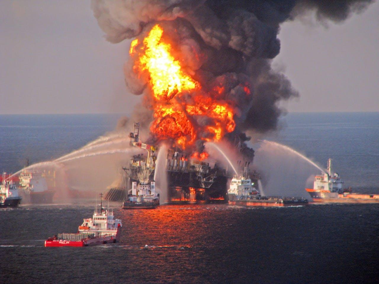 De Deepwater Horizon veroorzaakte in 2010 een milieuramp. EPA/US COAST GUARD