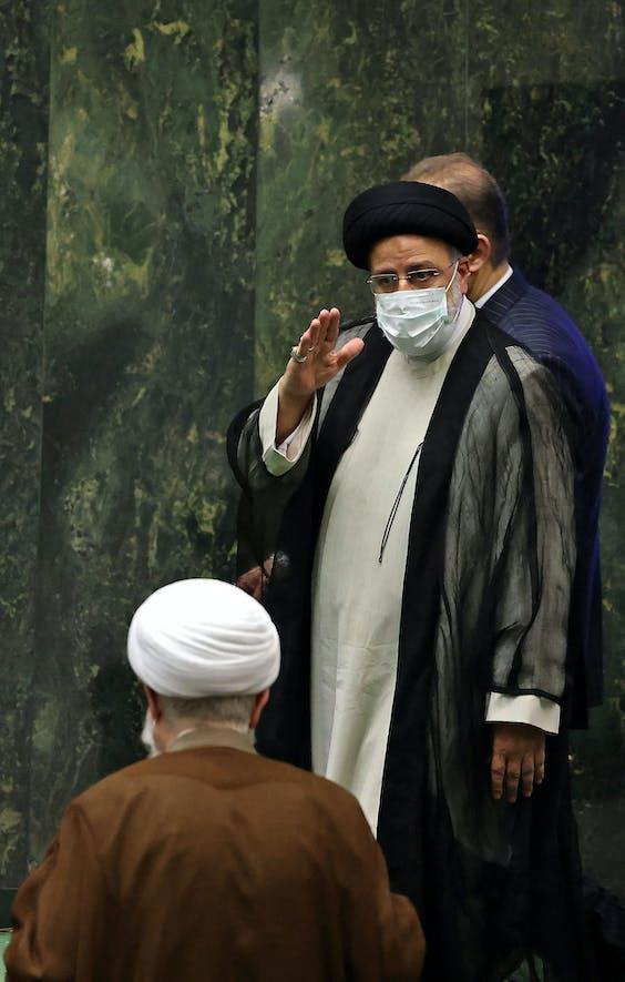 De nieuwe Iraanse president Ebrahim Raisi.