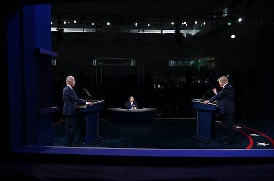 President Donald Trump (R) en Joe Biden