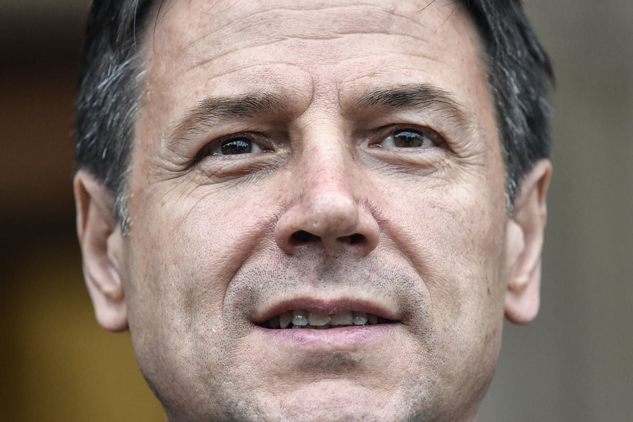 Premier Giusepe Conti TIZIANA FABI / AFP