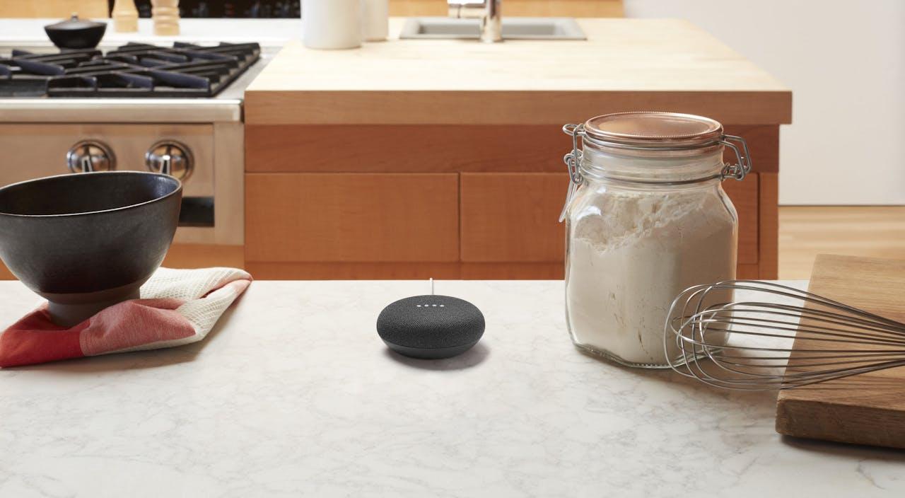 Google Home Mini in de keuken