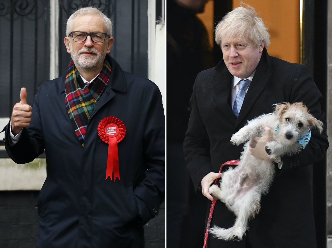 Jeremy Corbyn (Labour) en Boris Johnson (Conservative)