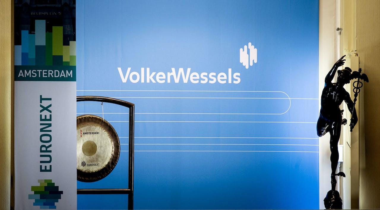 De beursintroductie van VolkersWessels op de Amsterdamse beurs.