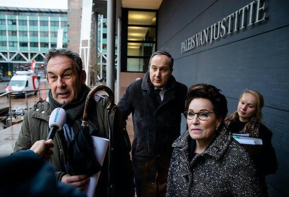 Frans van Laarhoven en advocaten Geert-Jan Knoops en Carry Knoops