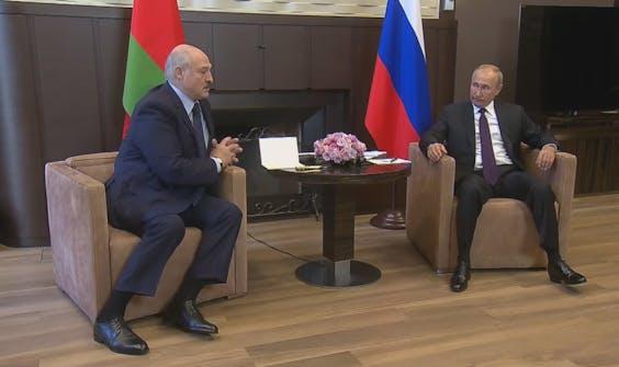 President Loekasjenko op audiëntie bij premier Poetin